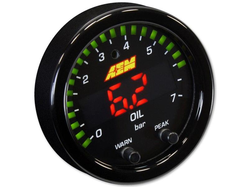 Zegar AEM ELECTRONICS X-Series 7BAR Oil/Fuel Pressure - GRUBYGARAGE - Sklep Tuningowy